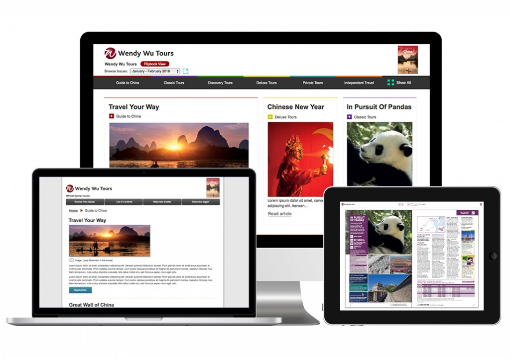 Your digital publication as adaptive content when you publish to mobile