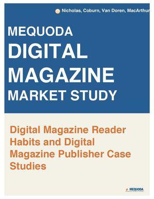 Digital Magazine Eats Up Print's Reader Share, Still Climbing Rapidly