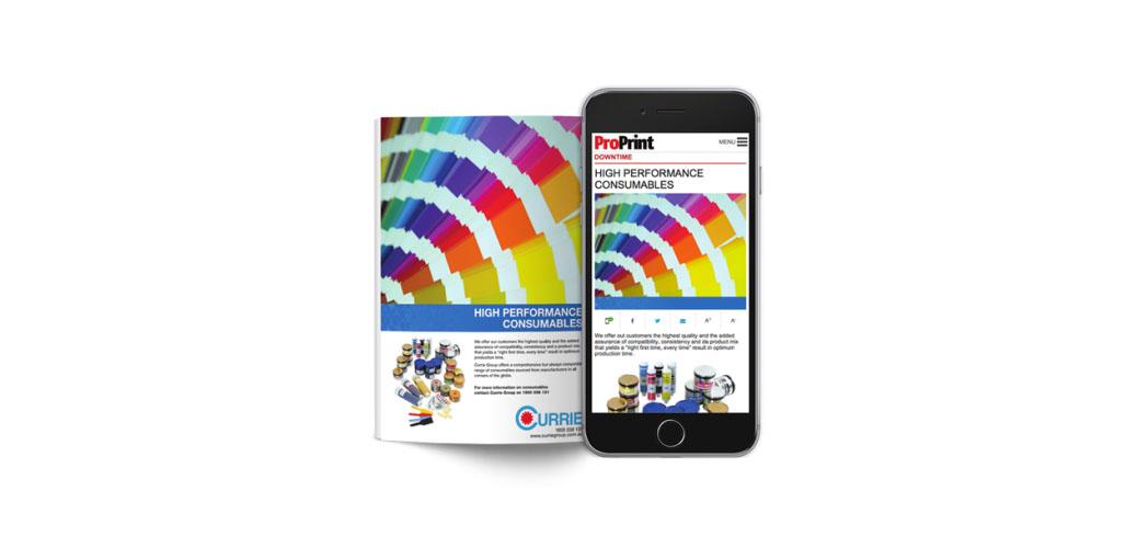 Radiaca Print on Mobile